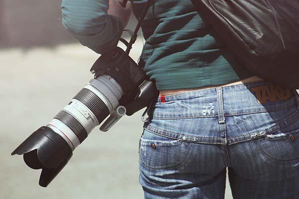 Banner-Kamera tragen